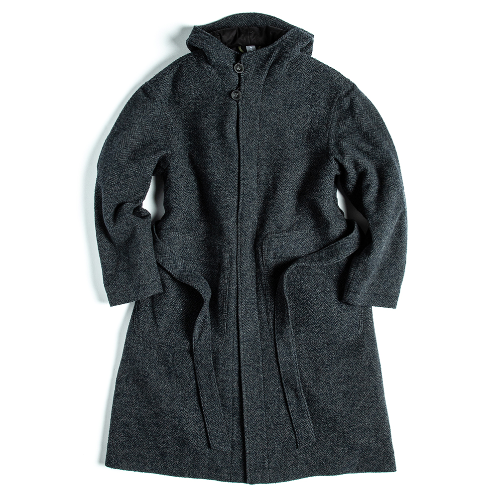 언어펙티드 HOODED ROBE COAT_Navy