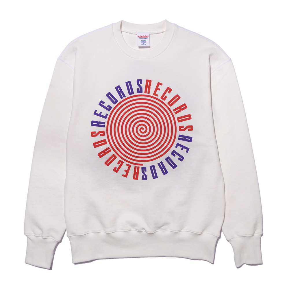 해버대셔리 RECORDS SWEAT SHIRT_Ivory