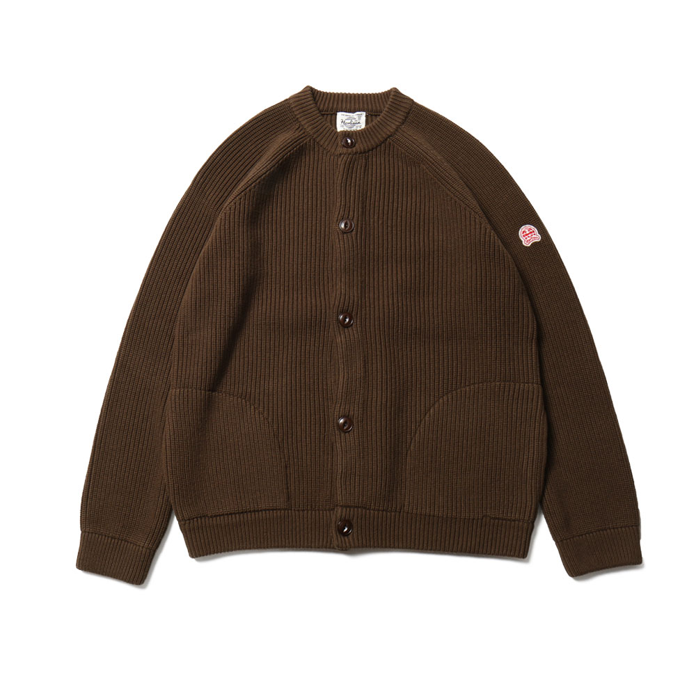 홀리선 Annette Raglan Full Cardigan Knit_Dark Brown