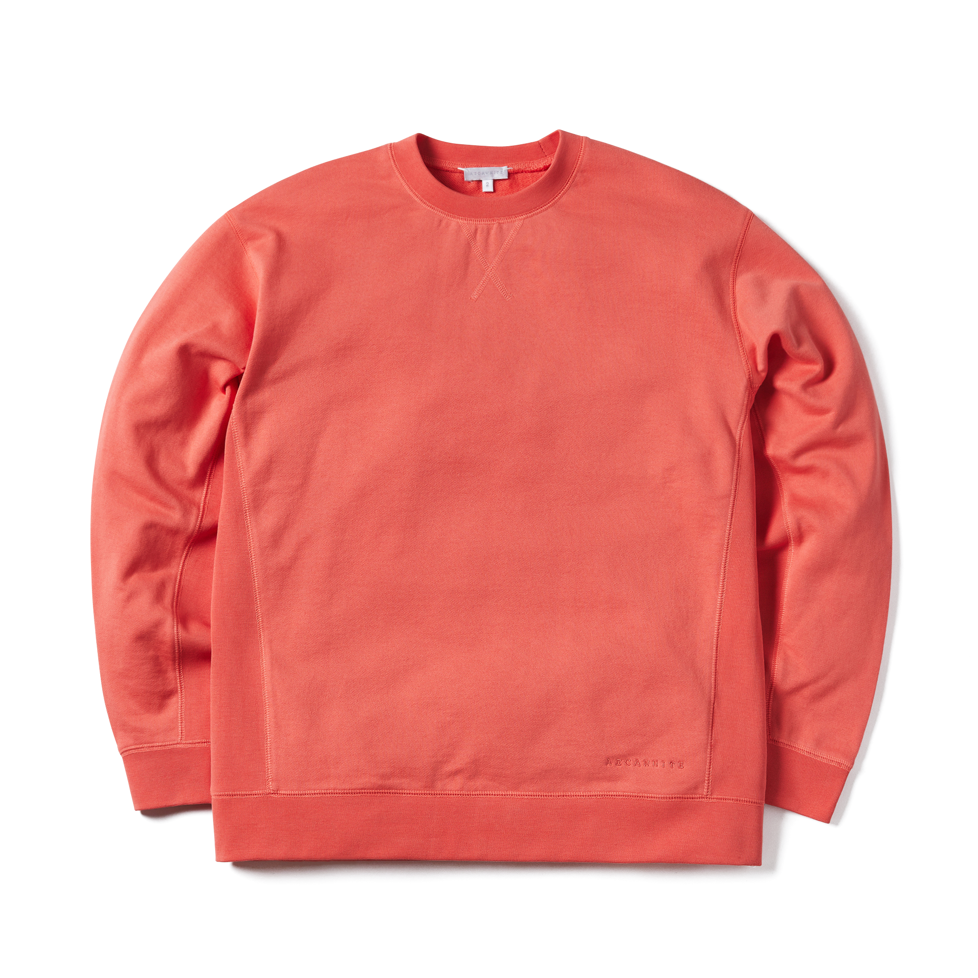 에이카화이트 MILES SWEATSHIRT_Hot Coral