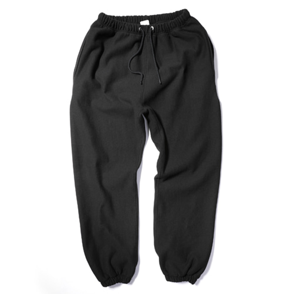 아웃스탠딩 80'S REVERSE SWEAT PANTS_Black