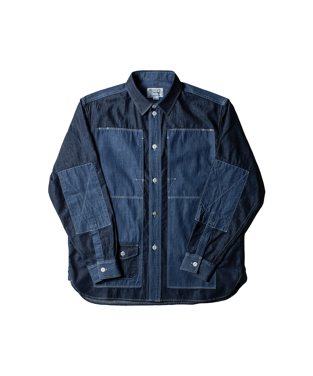 네이머클로딩 BLUER UTILITY SHIRTS_Navy