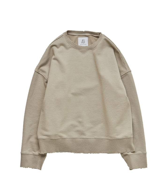 브라운야드 Damage Pullover_Beige