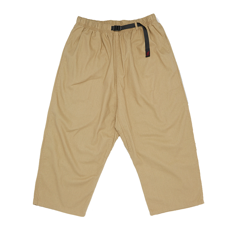 그라미치 LINEN COTTON BALLOON PANTS_Khaki