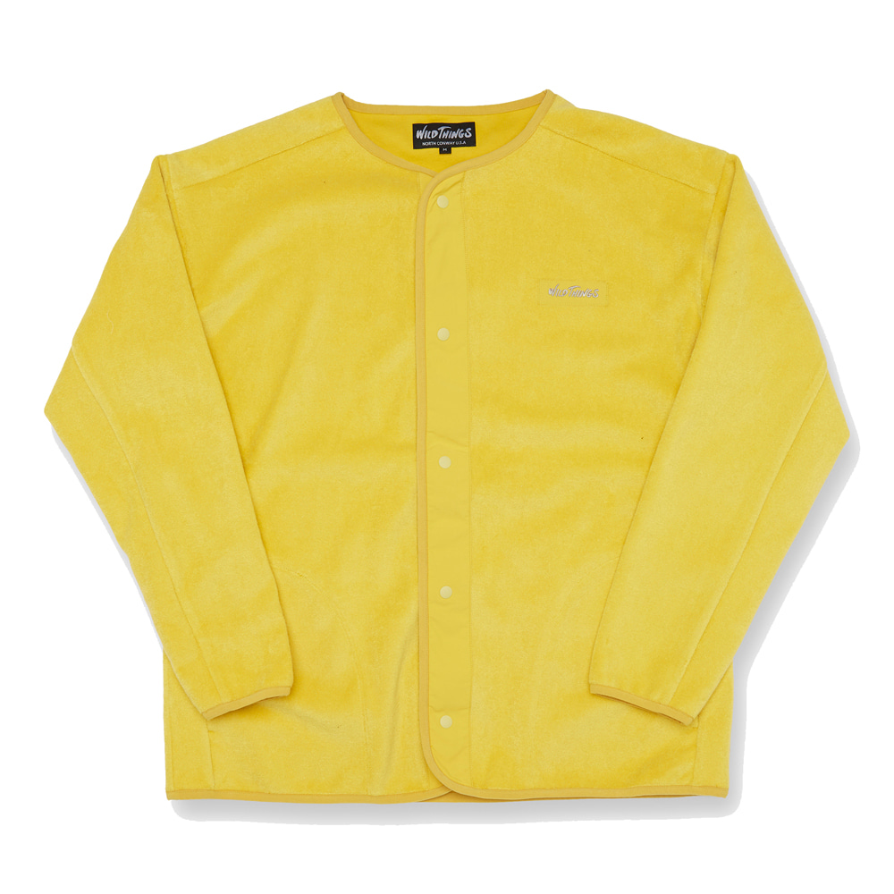 와일드띵스 PILE 1TONE CARDIGAN_Lemon