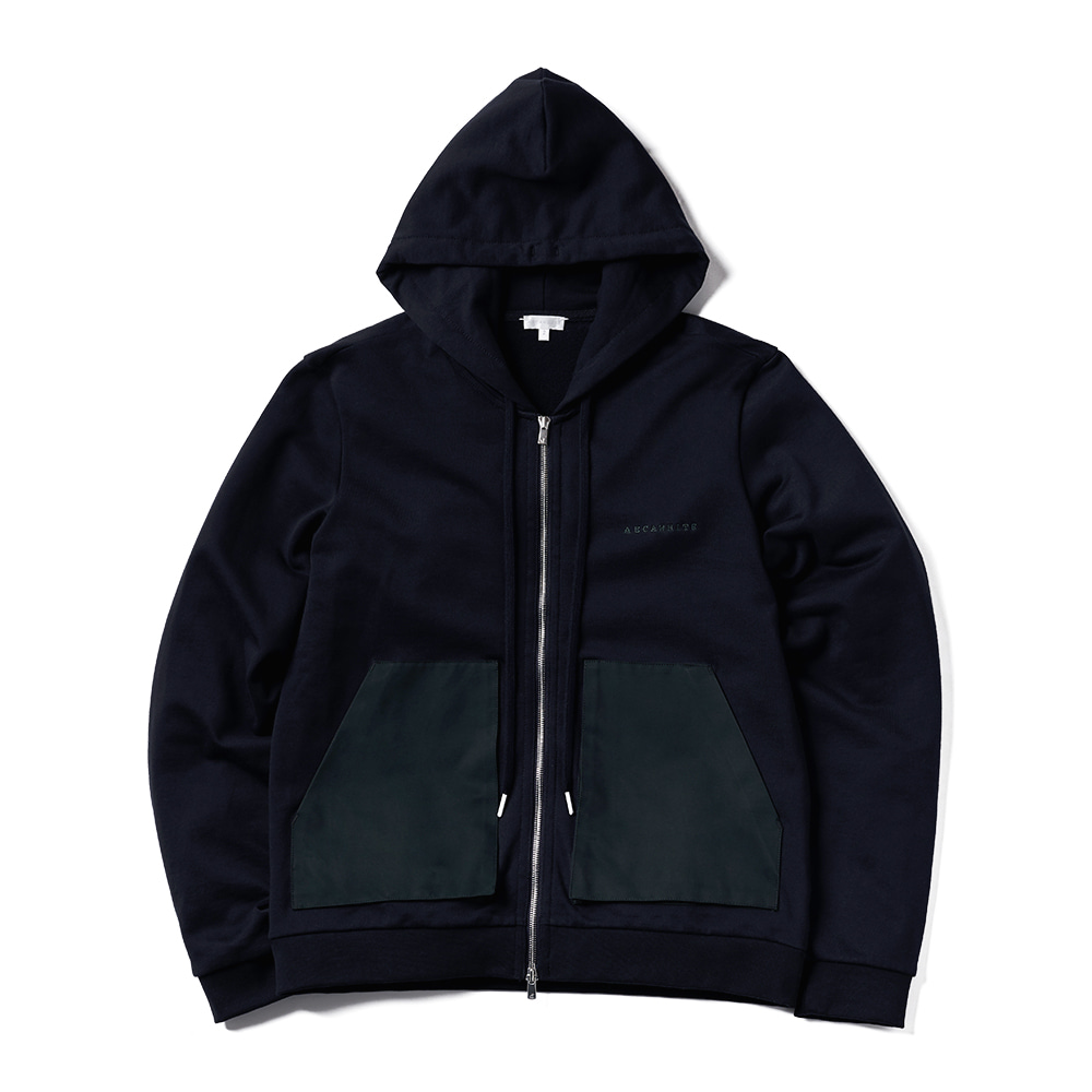 에이카화이트 GARY ZIP UP HOOD_Deep Navy