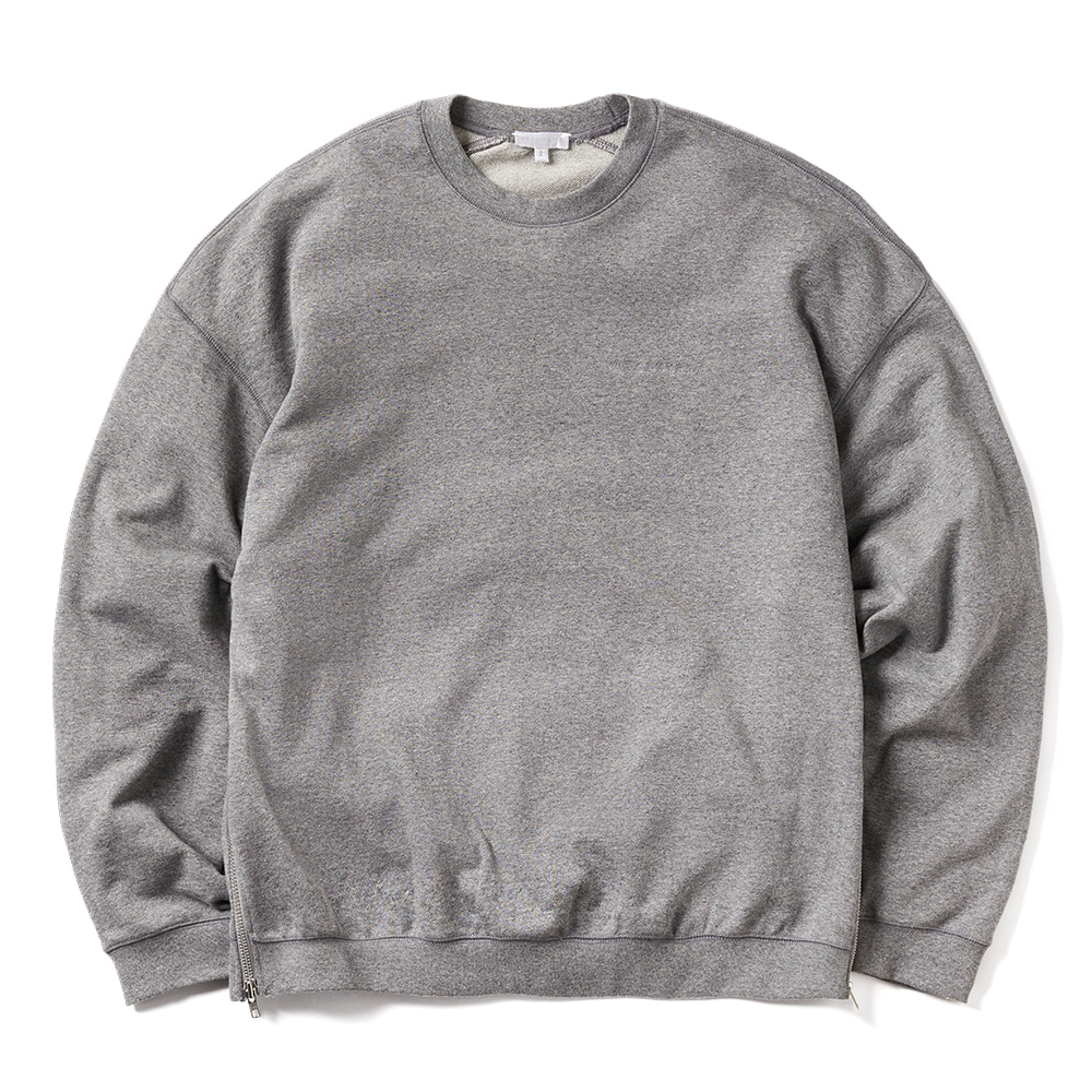 에이카화이트 WIDE DOUBLE ZIP SWEAT_Grey