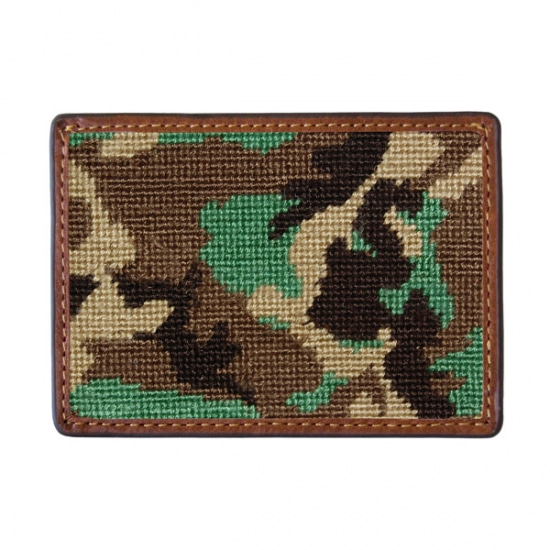 SMATHERS&BRANSON_Camo Needlepoint Card Wallet