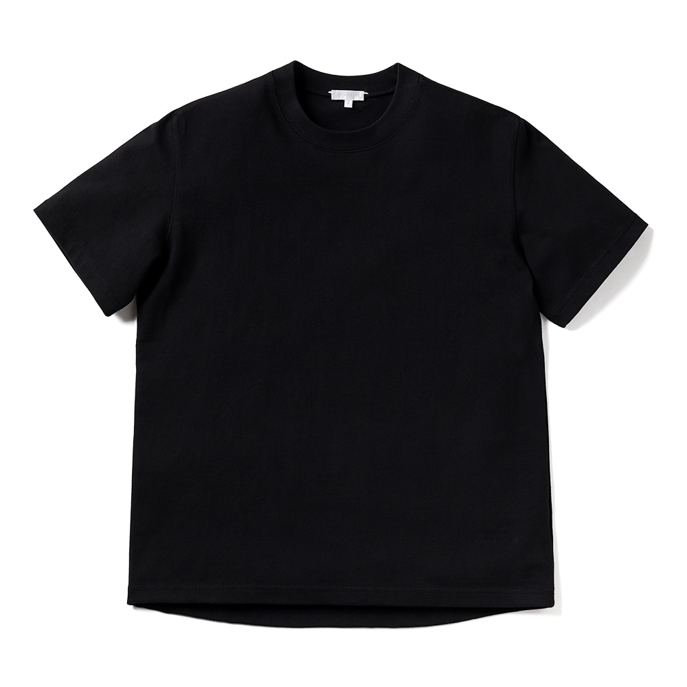 에이카화이트 LOUISE HALF SLEEVE TEE_Black