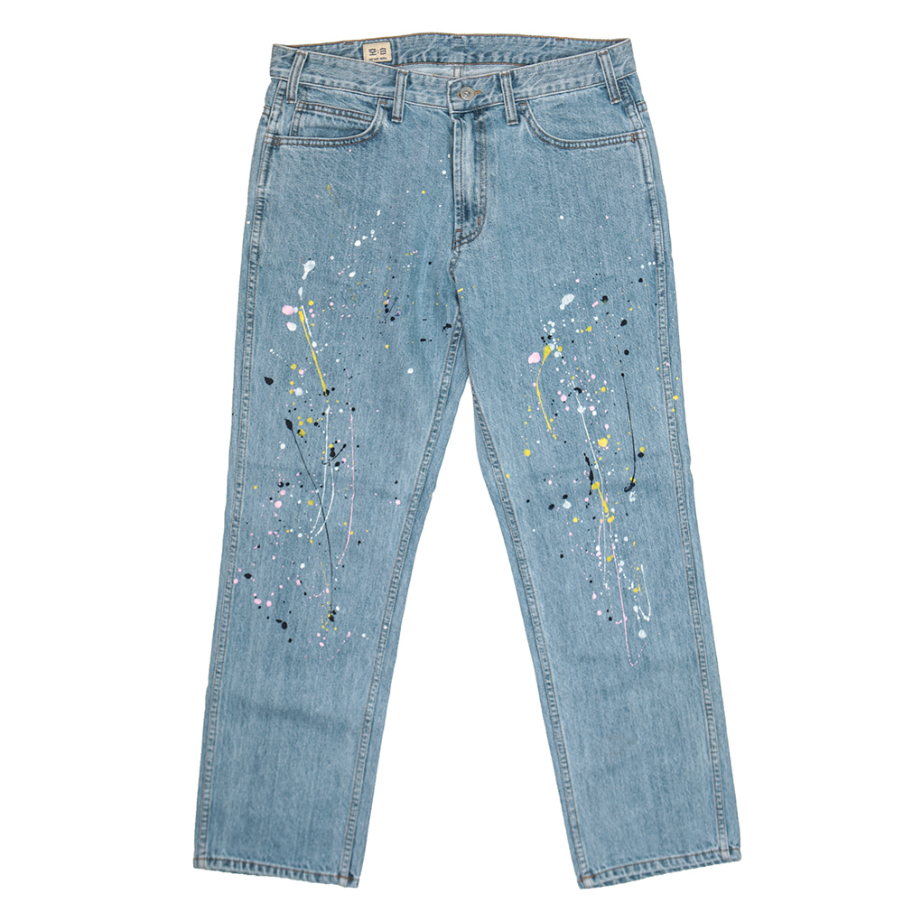 공백 Regular Standard Denim_Splatter Paint
