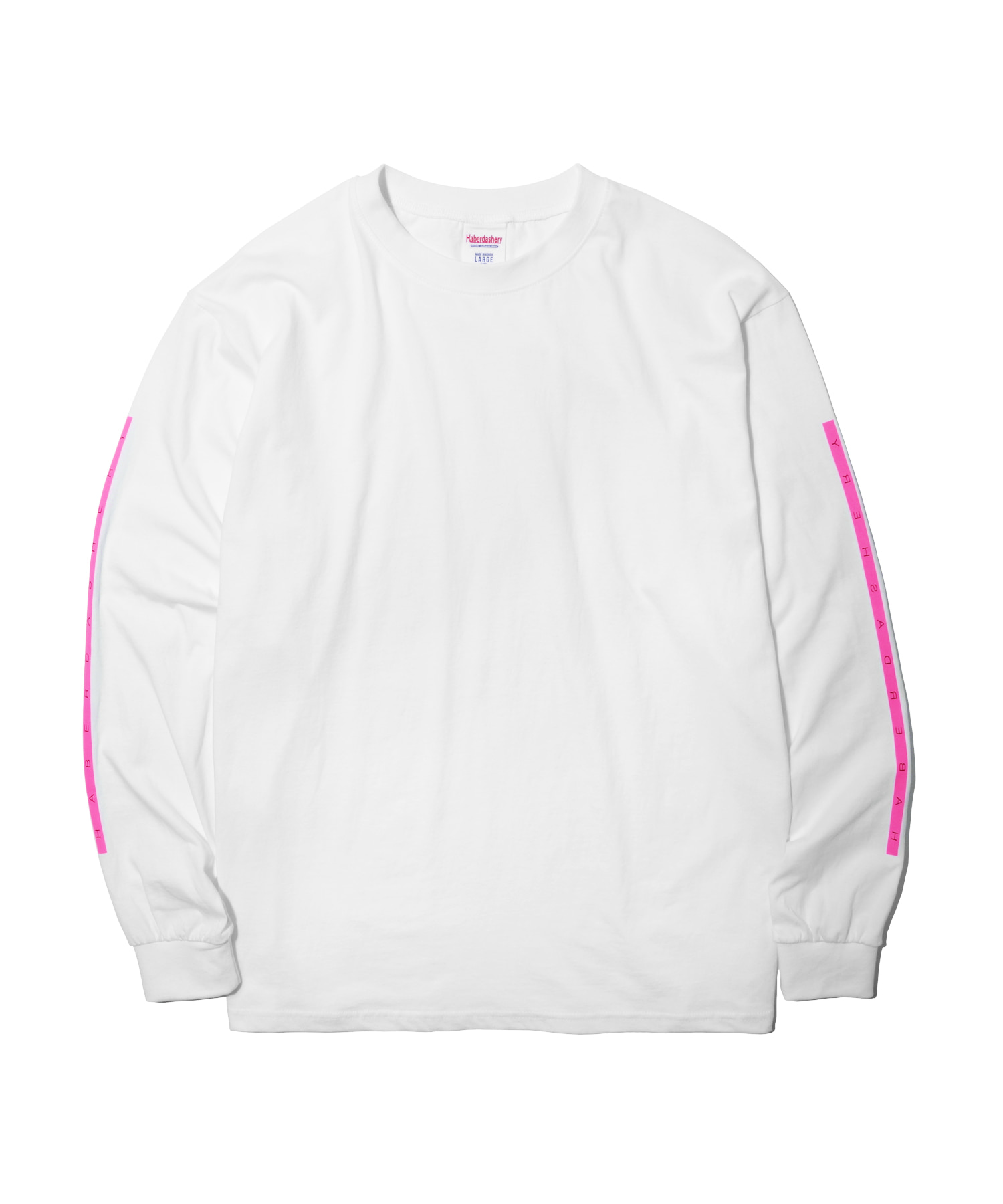 해버대셔리 BOX LONG SLEEVE_Neon Pink