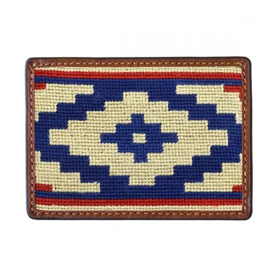 SMATHERS&BRANSON_Gaucho Rojo Needlepoint Card Wallet