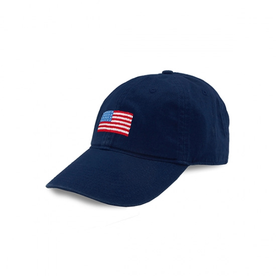 SMATHERS&BRANSON_American Flag Needlepoint Hat (Navy)