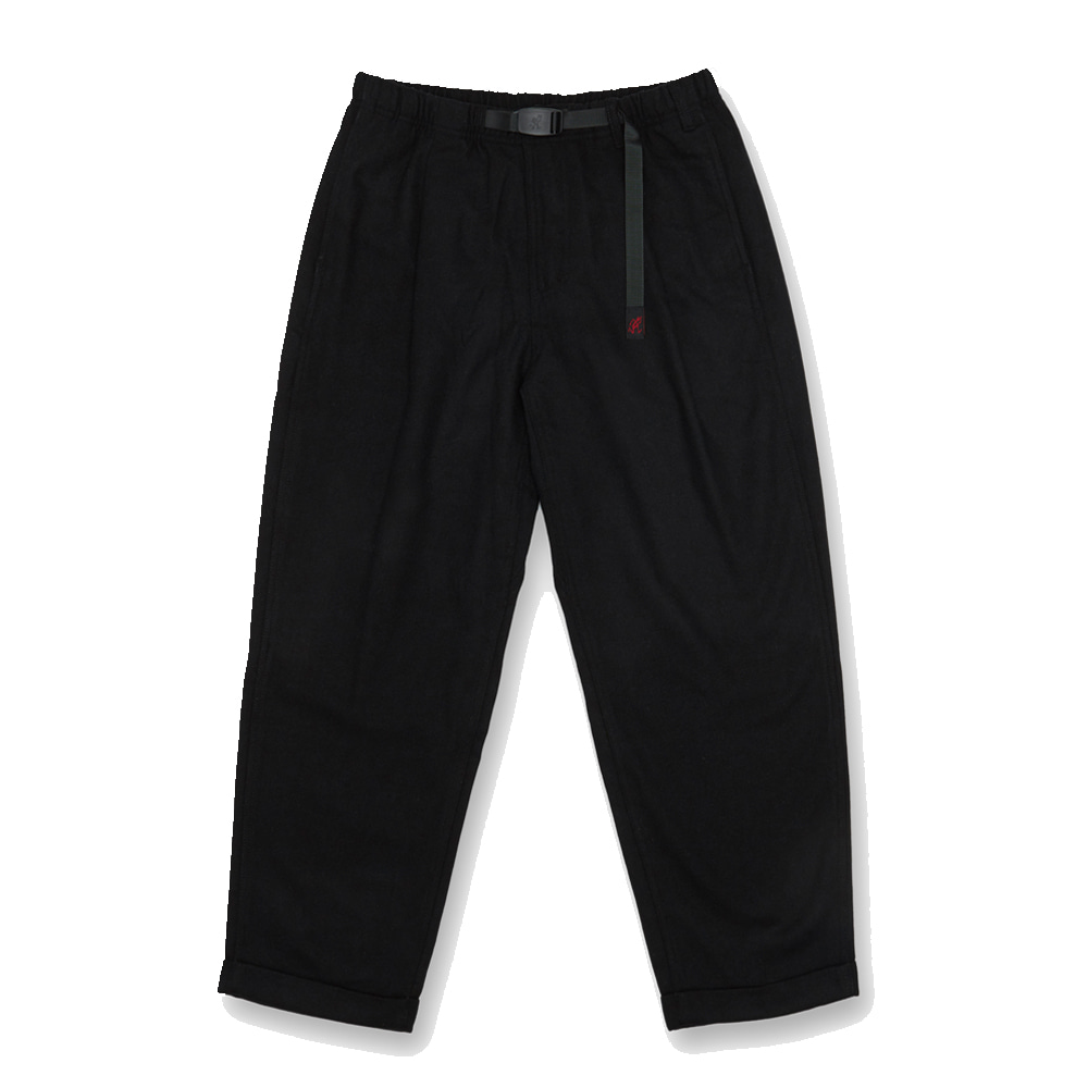 그라미치 WOOL BLEND TUCK TAPERED PANTS_Black