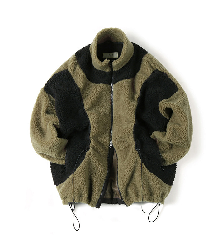 셔터 STRING FLEECE JACKET (Khaki)