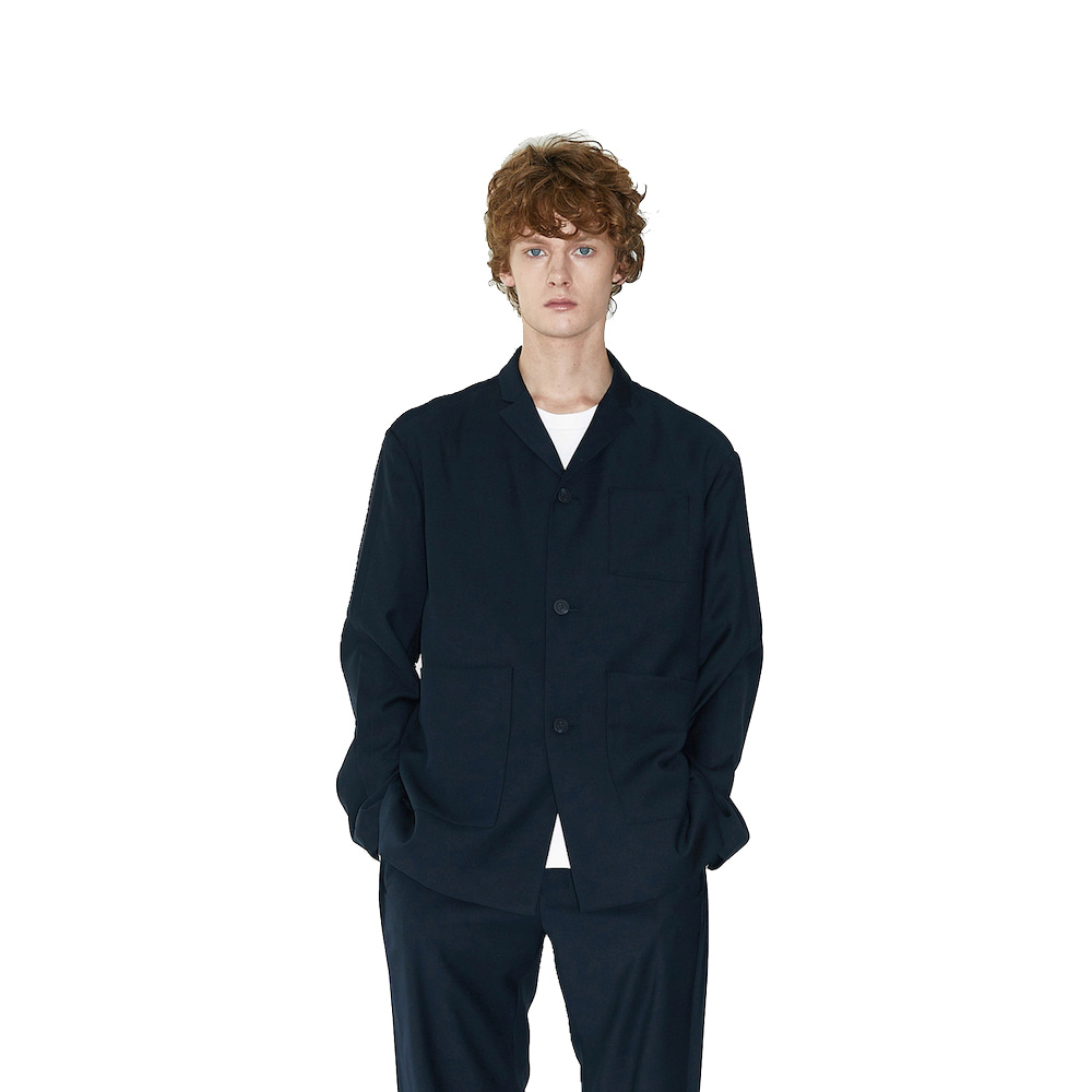 에이카화이트 OVERTURE TAILORED JACKET (Deep navy)