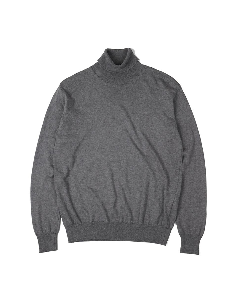 오파츠 Soft roll neck Sweater_Grey