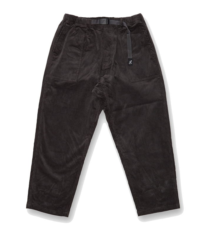 그라미치 CORDUROY LOOSE TAPERED PANTS_Charcoal