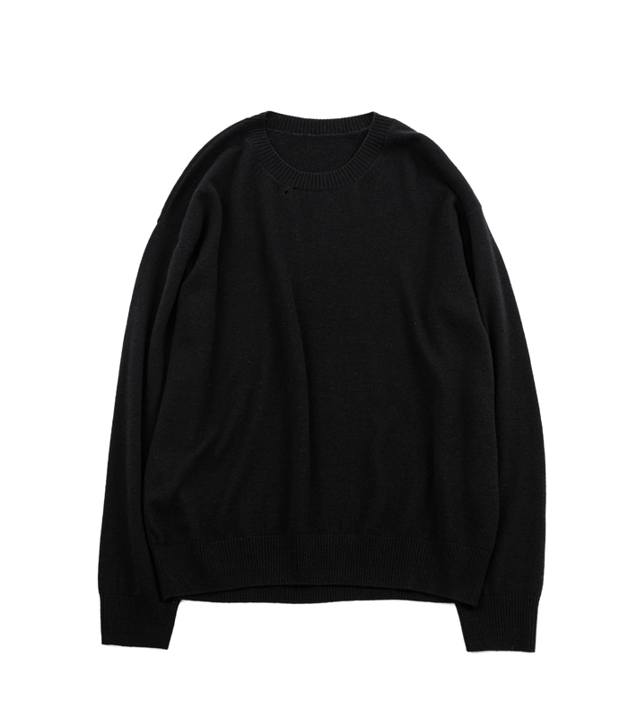 브라운야드 Crewneck Knit (Black)