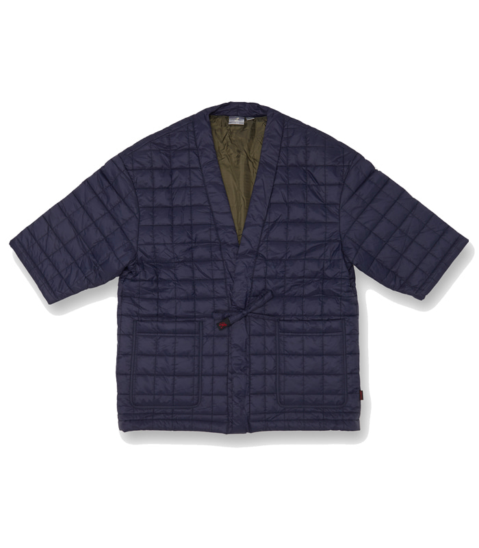 그라미치 QUILTING ROBE JACKET_Navy