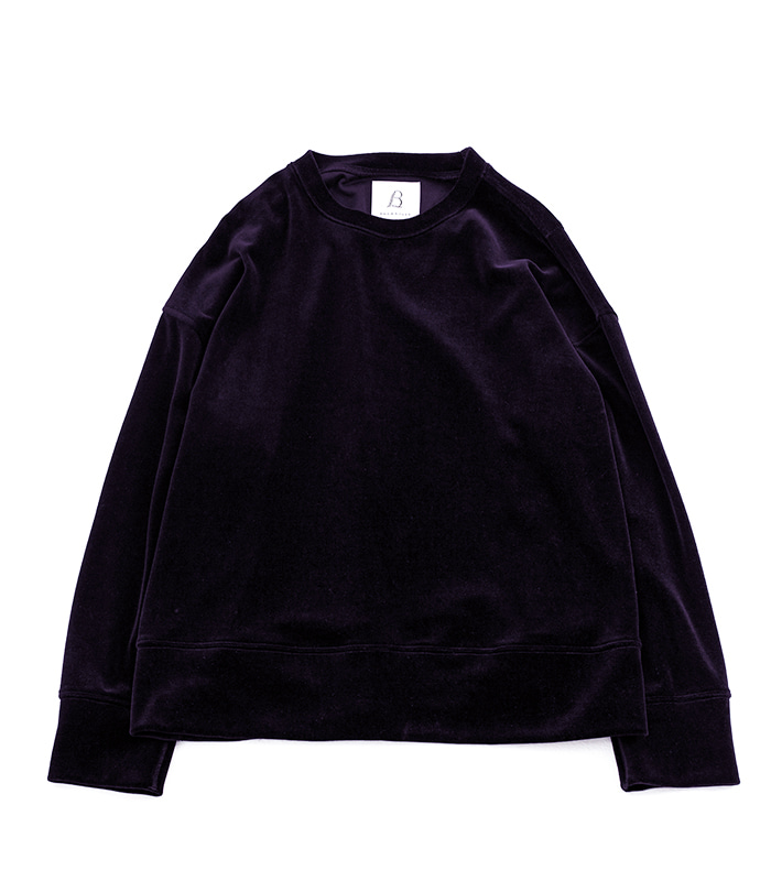 브라운야드 Wide Velour Pullover (Dark Purple)